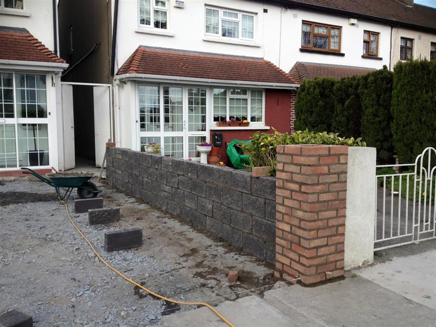 Brick Walling Built in Cork