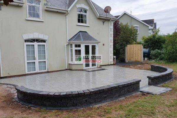 Belvedere Patio with Connemara Walling in Cobh, Co. Cork