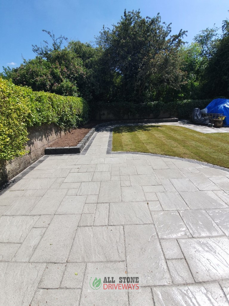 Belvedere Silver Granite Patio with Charcoal Border in Bishopstown, Cork