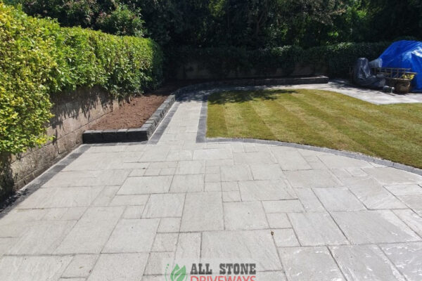 Belvedere Slabbed Patio with Turf Lawn in Bishopstown, Cork