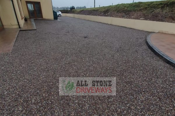 Double Coated Tar and Sandstone Chip Driveway in Mallow, North Cork