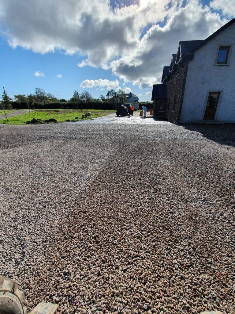 Examples of Tar and Chip Driveways Throughout Co. Cork