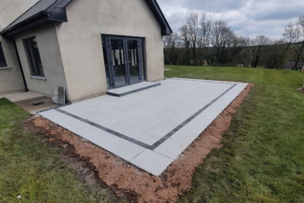 Granite Patio with Charcoal Border and New Step in Glenmore, Co. Cork