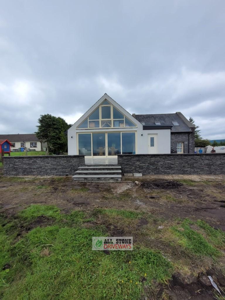Granite Raised Patio with Connemara Walling in Watergrasshill
