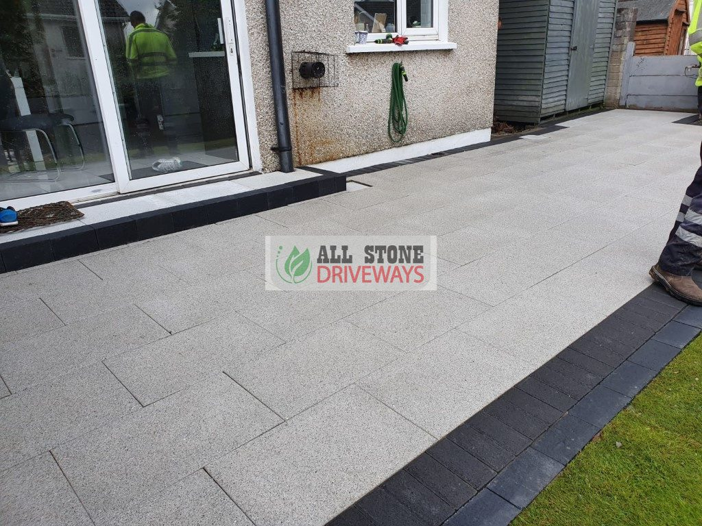 Granite Slabbed Patio with Turf Lawn in Cobh, Co. Cork