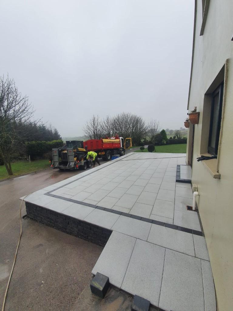 Raised Granite Patio in Cork City