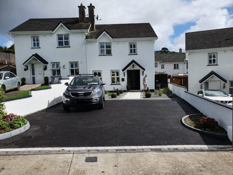 SMA Asphalt Driveway with Silver Granite Patio in Midleton, Co. Cork