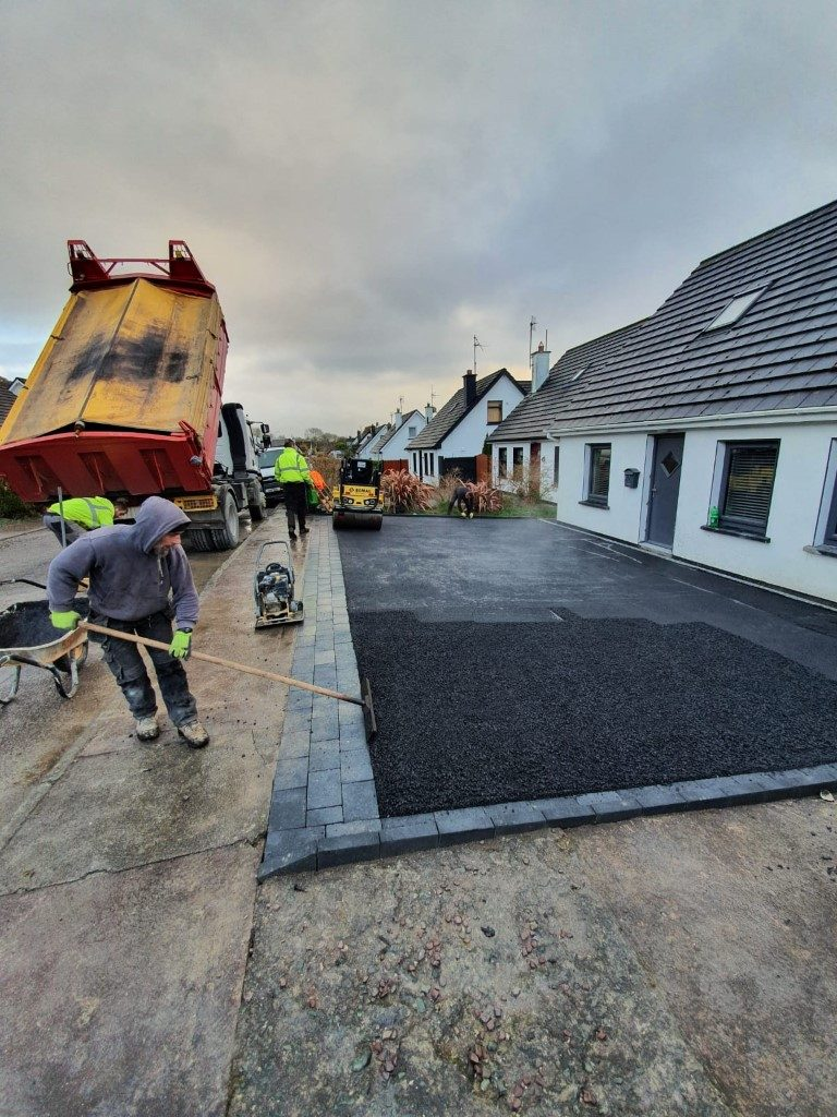 SMA Driveway with Charcoal Brick Border in Tower, Co. Cork