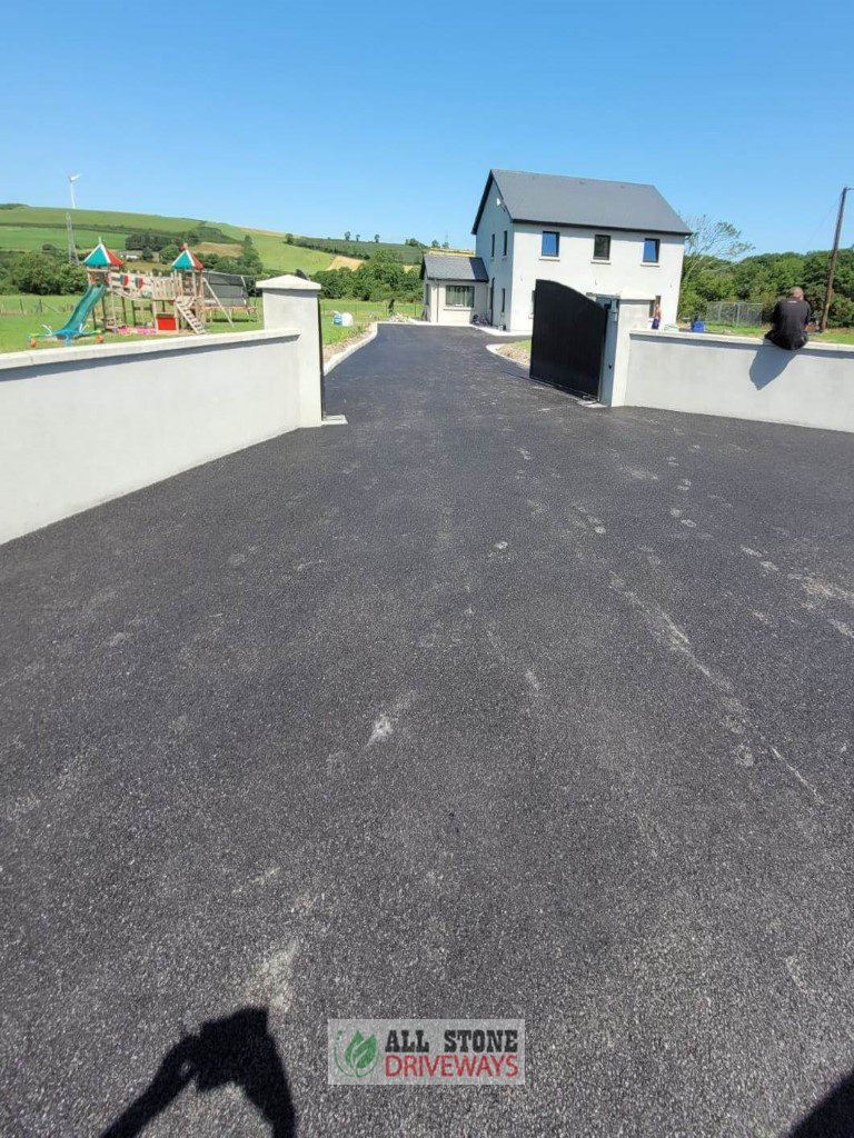 SMA Driveway with Kerbing and ACO Drains in East Cork