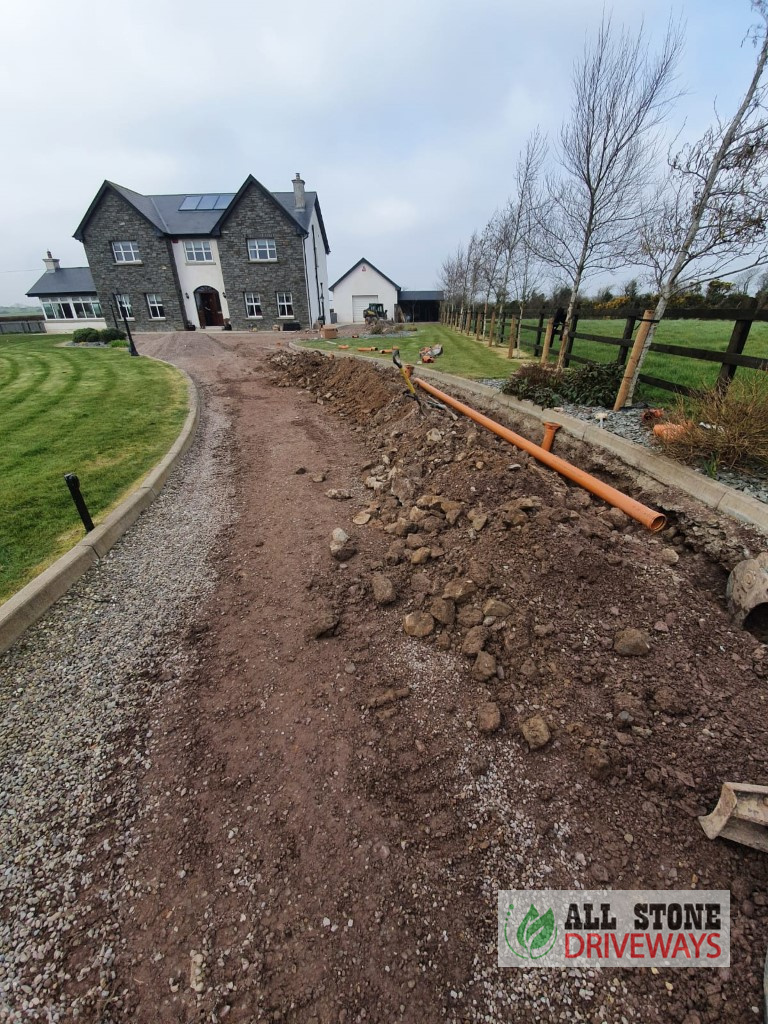 SMA Driveway with New Drainage System in East Cork