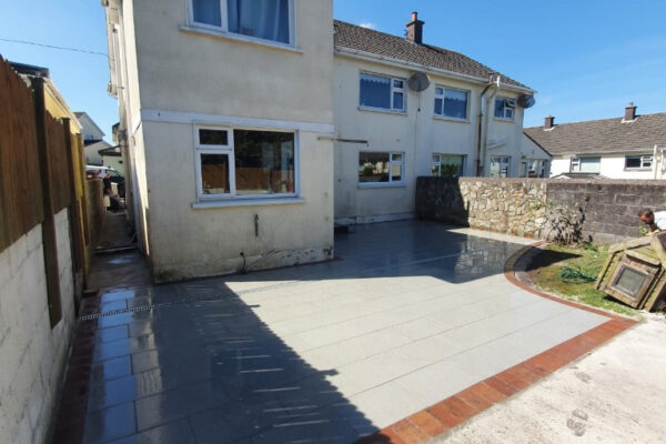 Silver Granite Patio with Concrete Base for Shed in Douglas, Cork