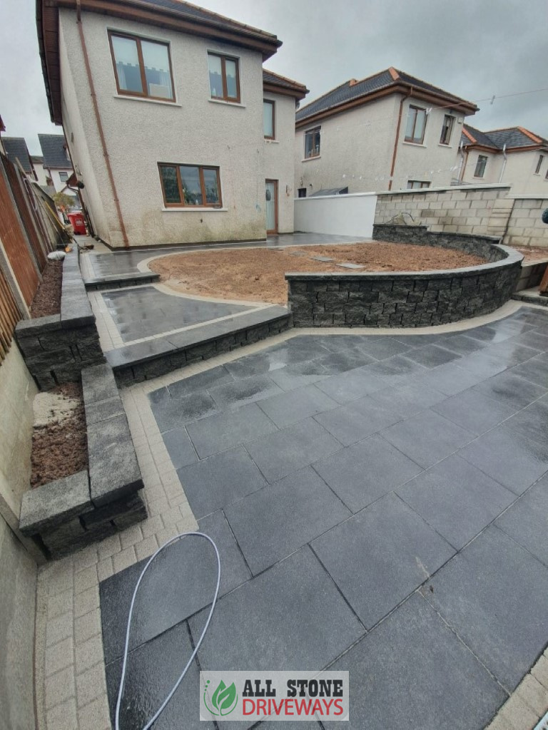 Slabbed Patio with Connemara Walling in Cork City