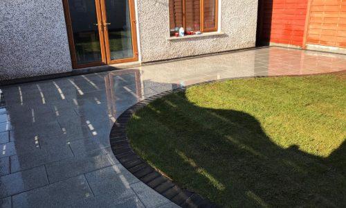 New Patio Installation in Cork with Silver Granite