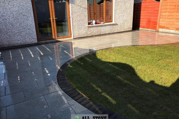 New Patio Installation in Cork with Silver Granite